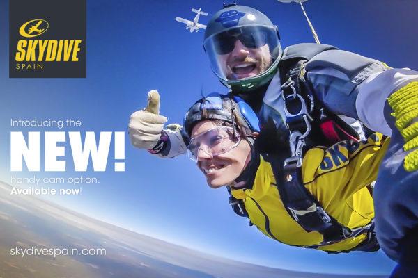 skydive spain handycam tandem skydive
