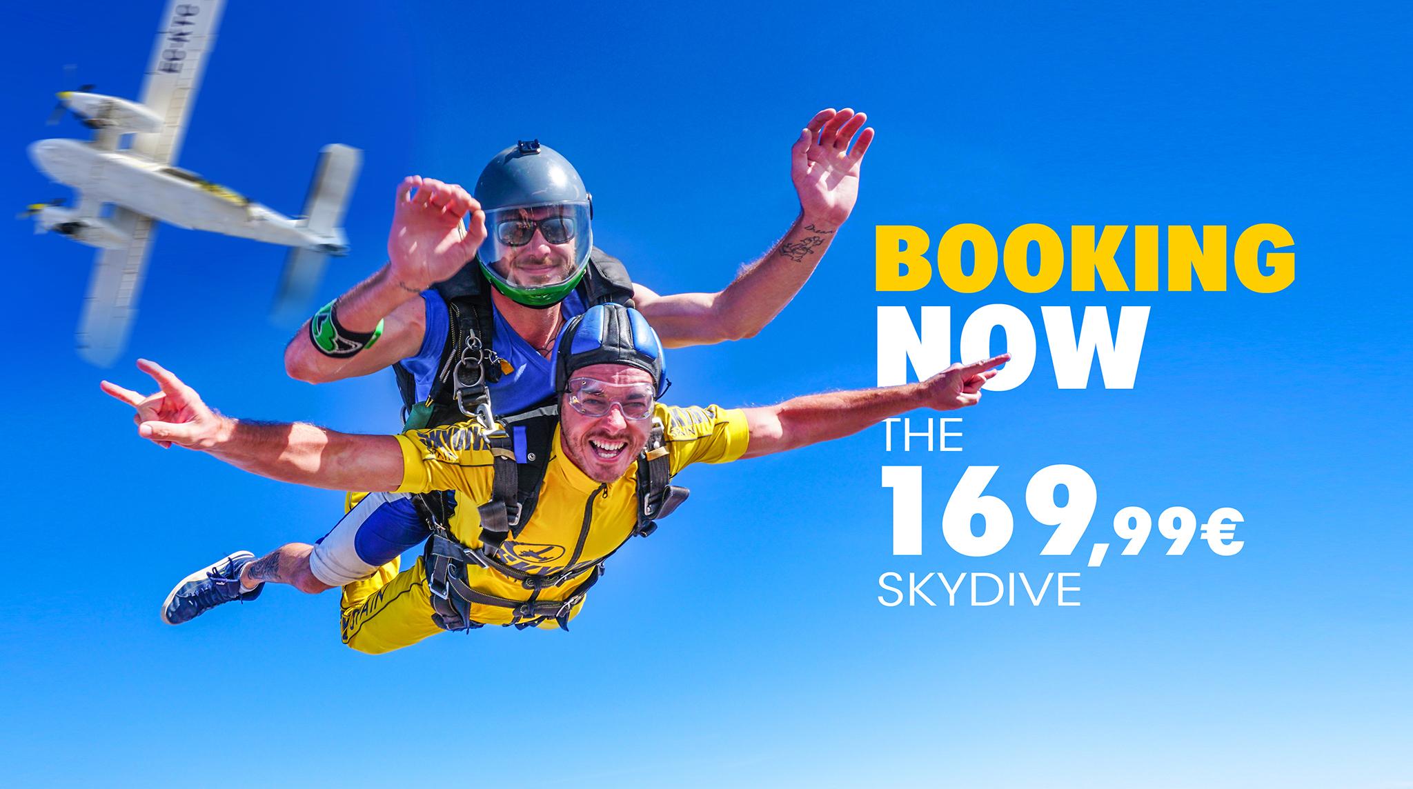 Tandem skydive at Skydive Spain